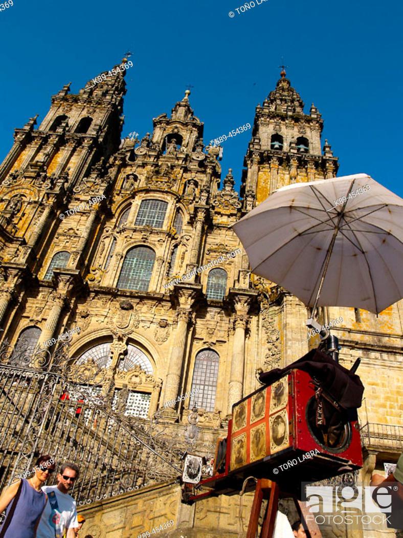 Stock Photo: Cathedral, Santiago de Compostela. La Coruña province, Galicia, Spain.