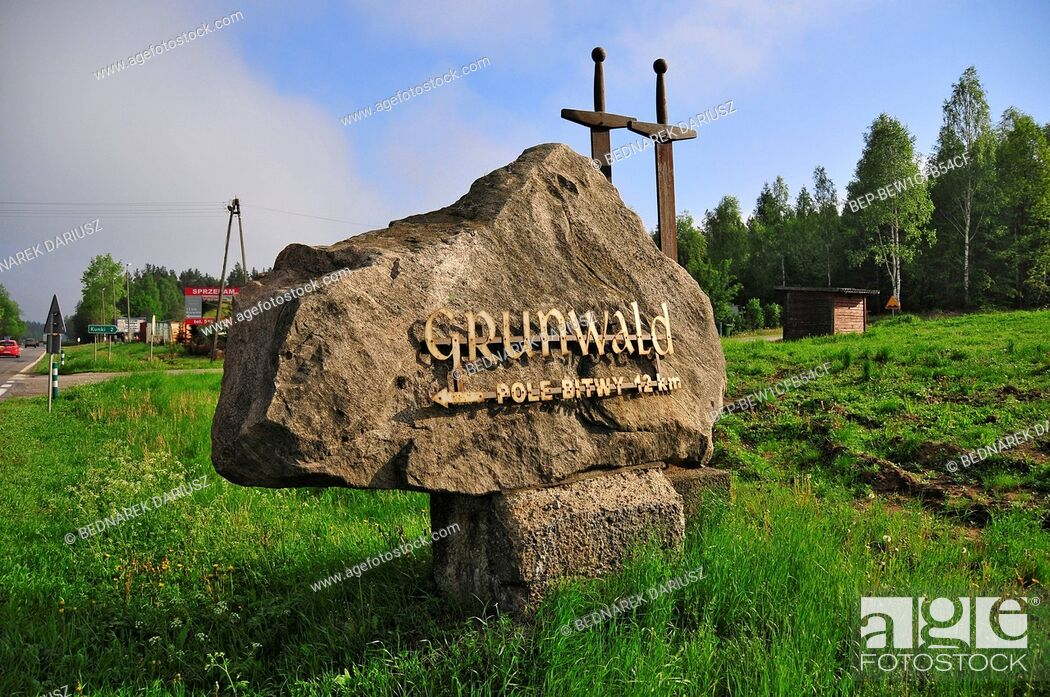 Imagen: Victory monument on the battlefield of Grunwald.