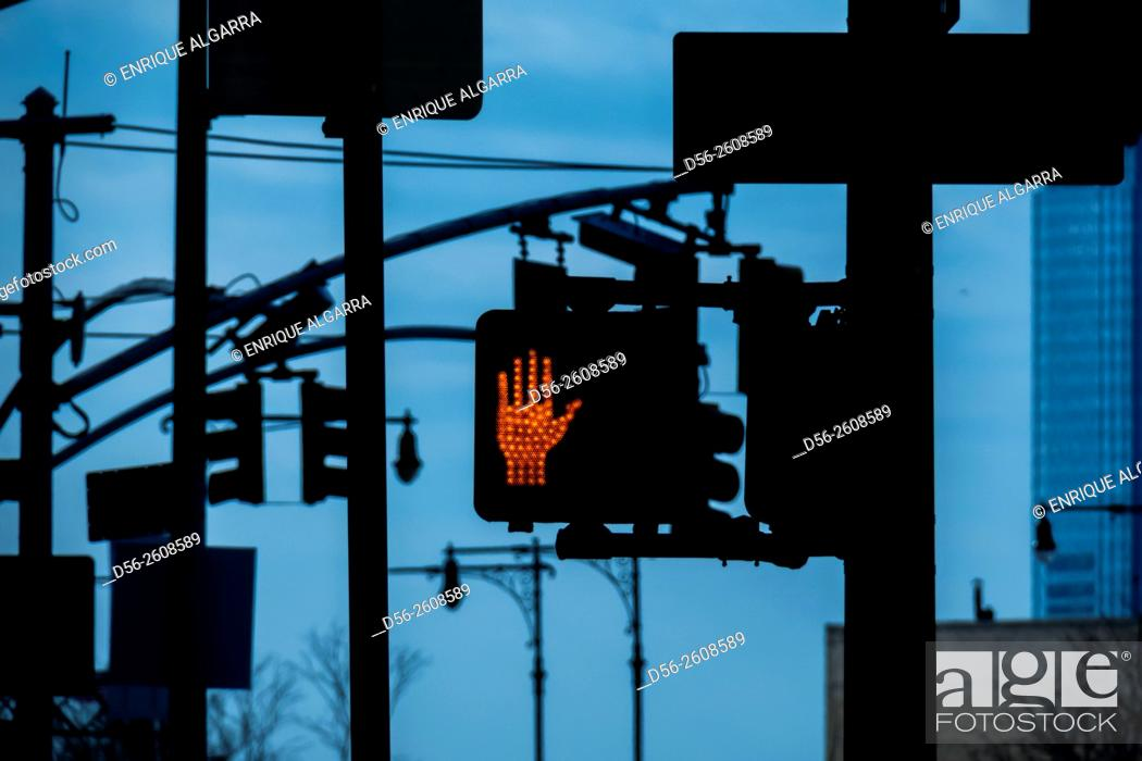 Stock Photo: Traffic lights, NYC , USA.