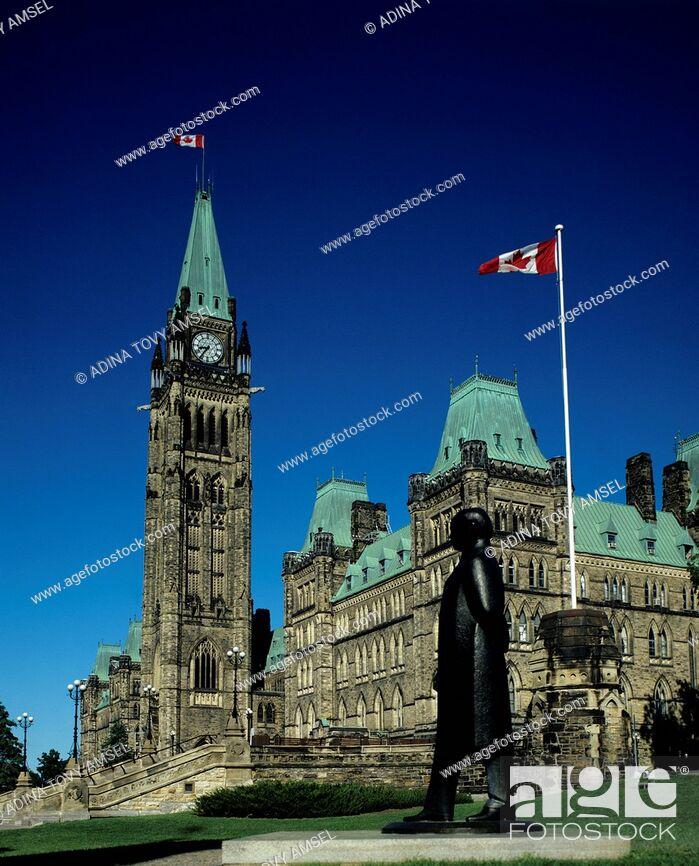 Stock Photo: Canada. Ottawa. Parliament building.
