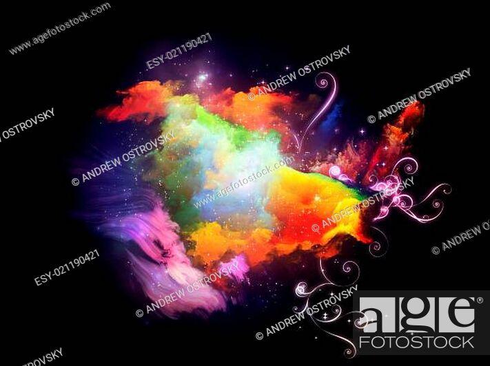 Stock Photo: Conceptual Design Nebulae.