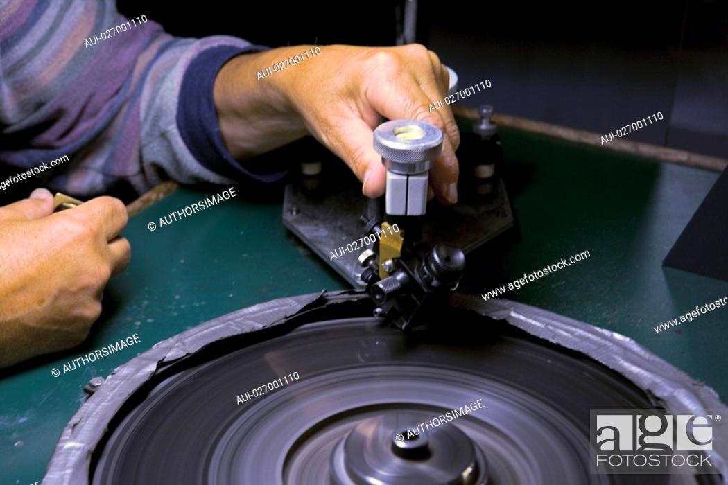 Stock Photo: Belgium - Flanders - Antwerp - Diamond Museum - Diamond cutting.