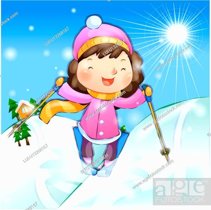 Stock Photo: outdoors, snow, ski, sports, chirstmas, winter.