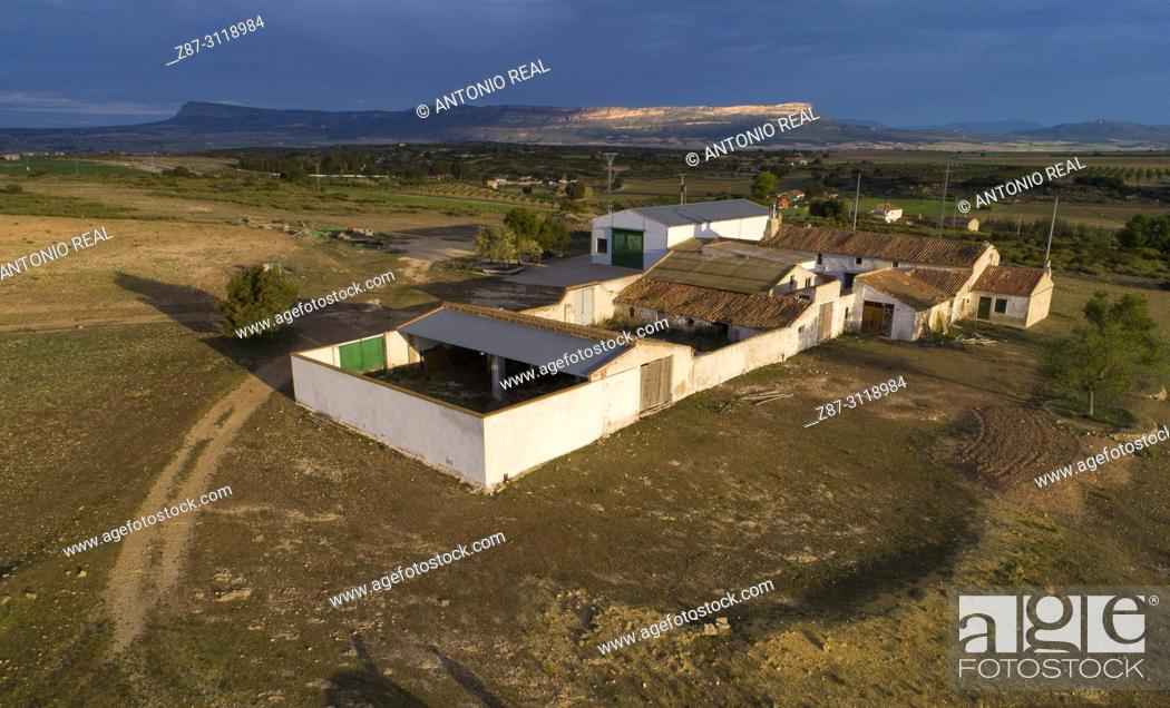 Stock Photo: Paraje de Sugel and Sierra del Mugrón. Almansa. Albacete. Spain.