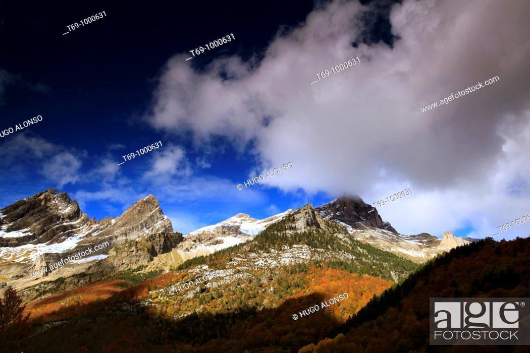 Stock Photo: Pineta valley (Ordesa and Monte Perdido National Park).