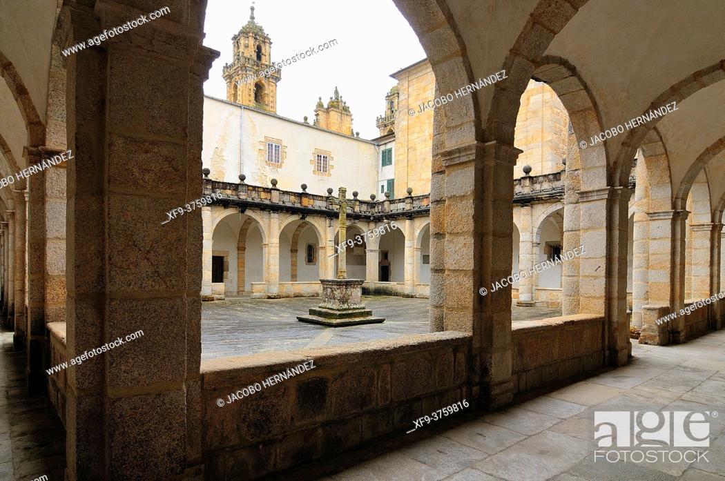 Stock Photo: Cloister of the Cathedral of Mondoñedo. Lugo province. Galicia. Spain.