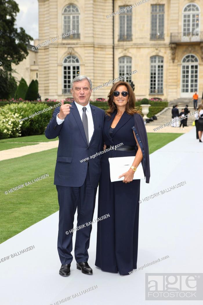 Sidney Toledano, CEO of Christian Dior S A , and his wife