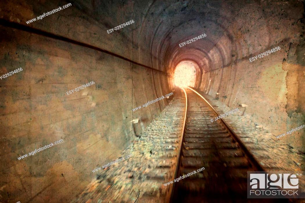 Stock Photo: Vintage railway tunnel.
