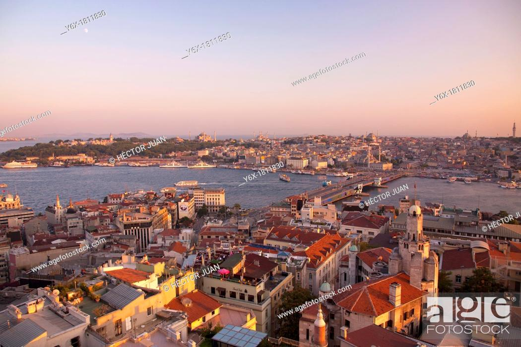Stock Photo: Istanbul from galata tower.