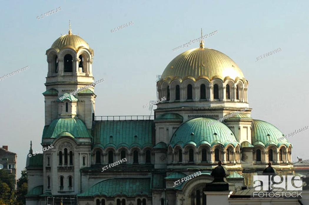 Stock Photo: Bulgaria, Sofia, Alexander Nevsky Cathedral.