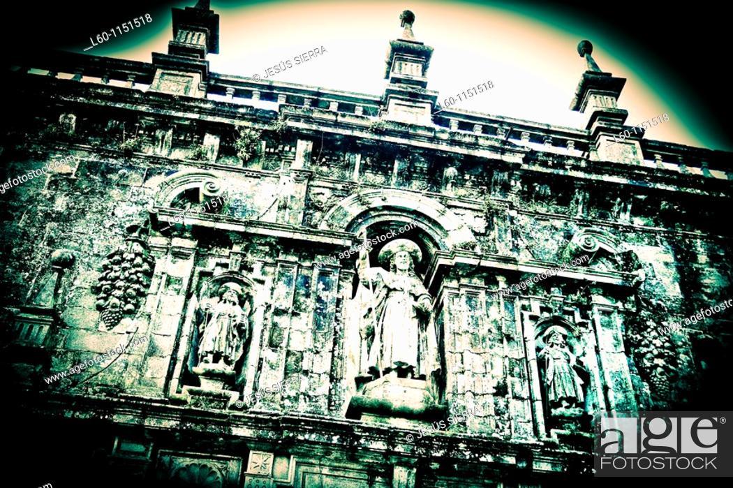 Stock Photo: Sculpture of Santiago  Santiago de Compostela  Spain.