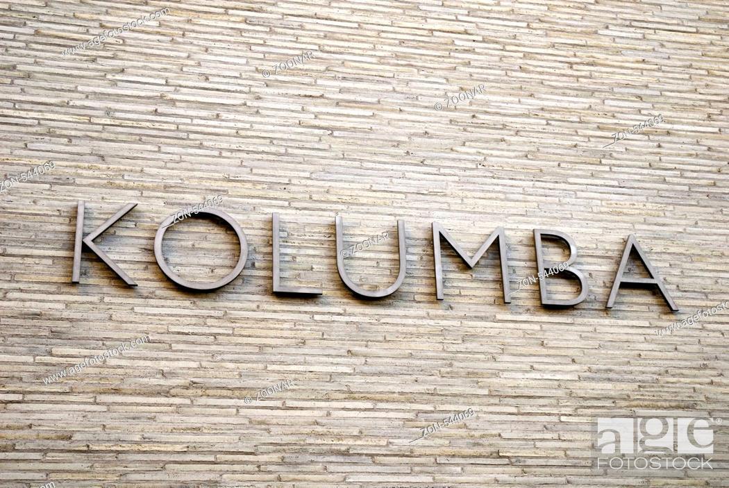 Stock Photo: Kolumba Diozoesanmuseum Köln, Deutschland, Europa , Kolumba diocese museum of the cologne catholic church germany europe.