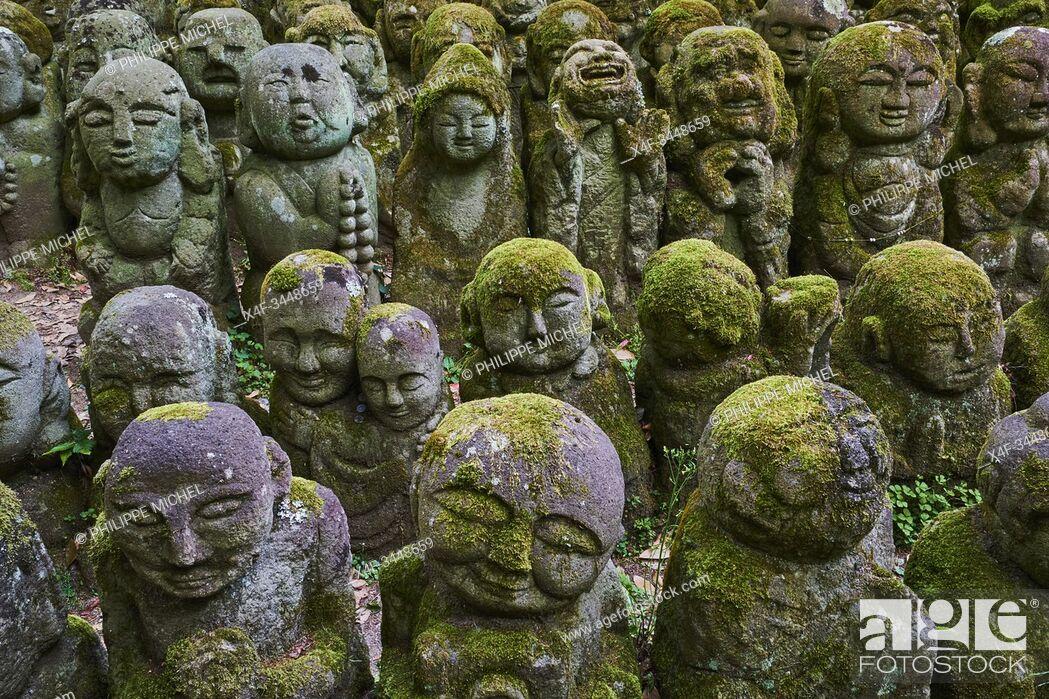 Stock Photo: Japan, Honshu island, Kansai region, Kyoto, Otagi Nenbutsuji temple.