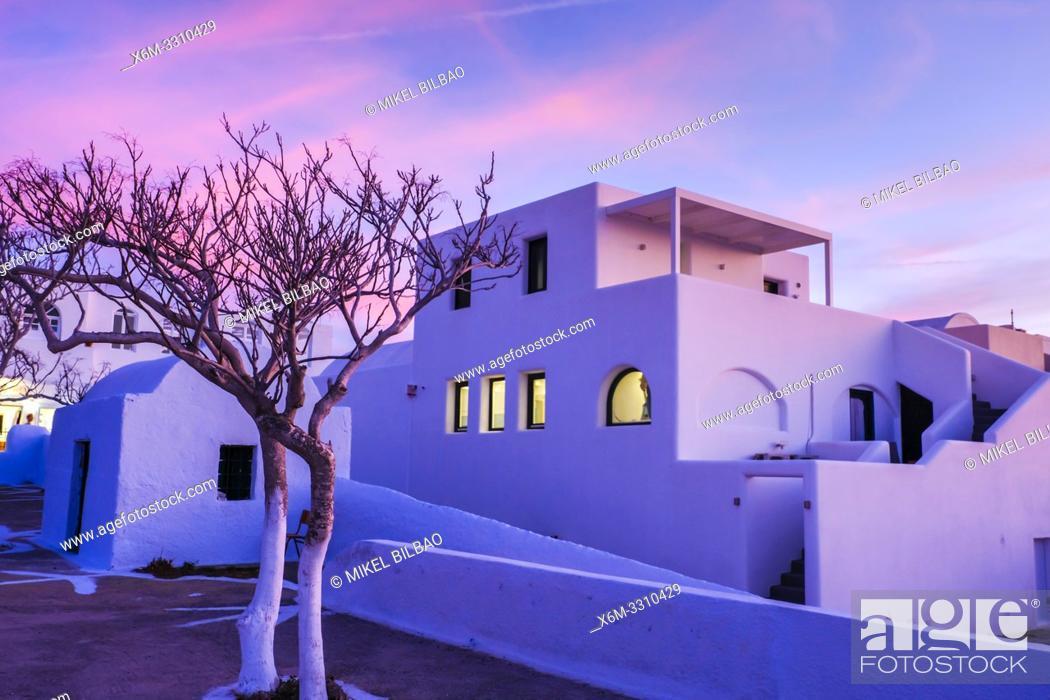 Stock Photo: Oia. Santorini. Islas Cicladas. Grecia.