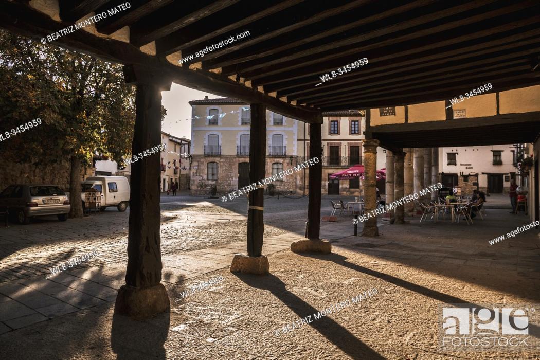 Stock Photo: Streets of Covarrubias in Burgos (Spain).
