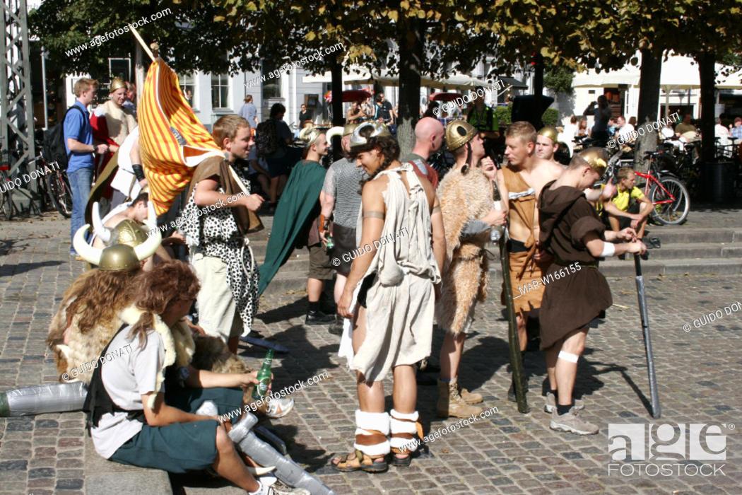 Stock Photo: europe, denmark, copenhagen, islev production high school students' battle.
