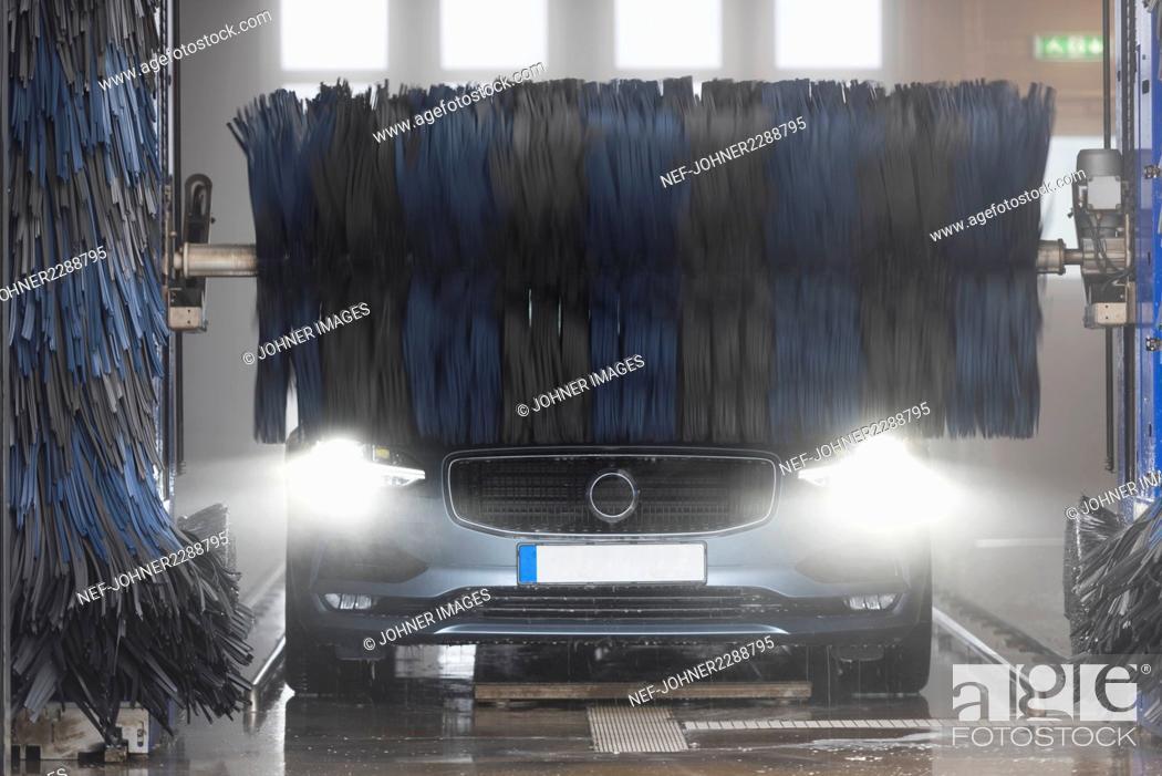 Stock Photo: Car in car wash.