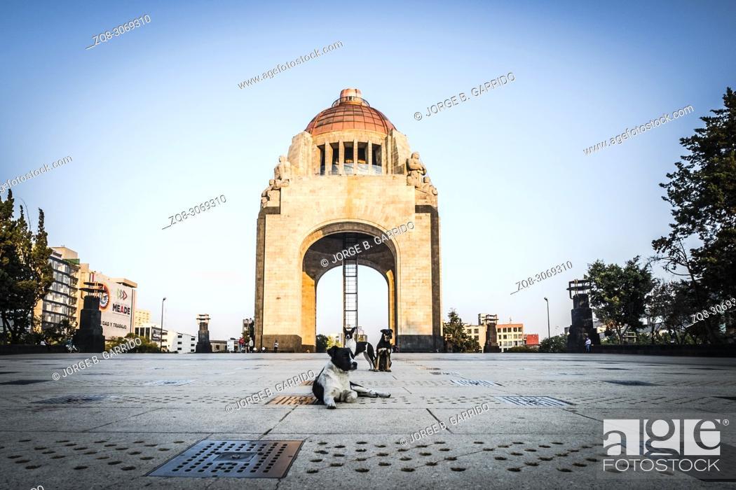 Stock Photo: Revolution Monument at CDMX, Mexico City.
