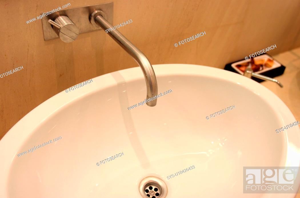 Stock Photo: Bathroom sink.