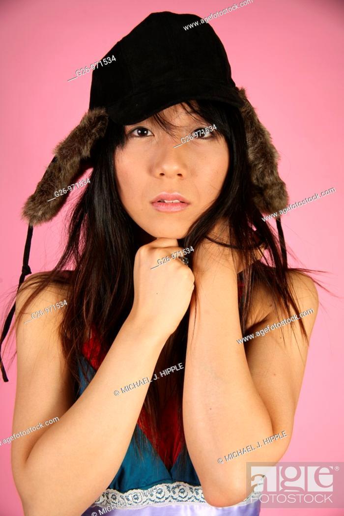Stock Photo: Asian-American woman portrait.