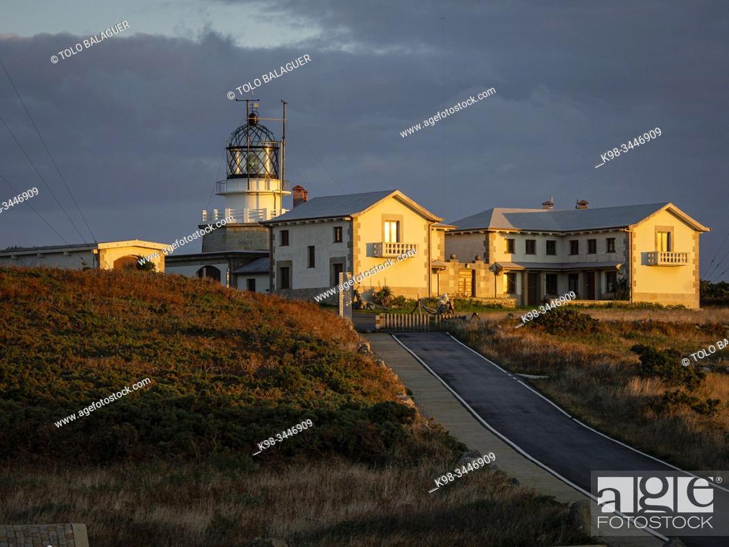 Stock Photo: faro de Estaca de Bares, Mañon, La Coruña, Galicia, Spain.
