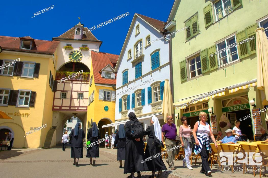Stock Photo: Meersburg, Old town, Castle, Lake Constance, Bodensee, Baden-Wuerttemberg, Germany, Europe.