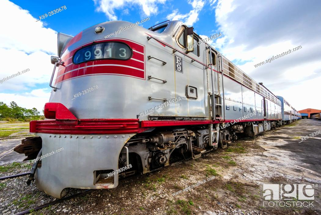 Stock Photo: Old Railroad. Railroad Museum. Miami. Florida. USA.