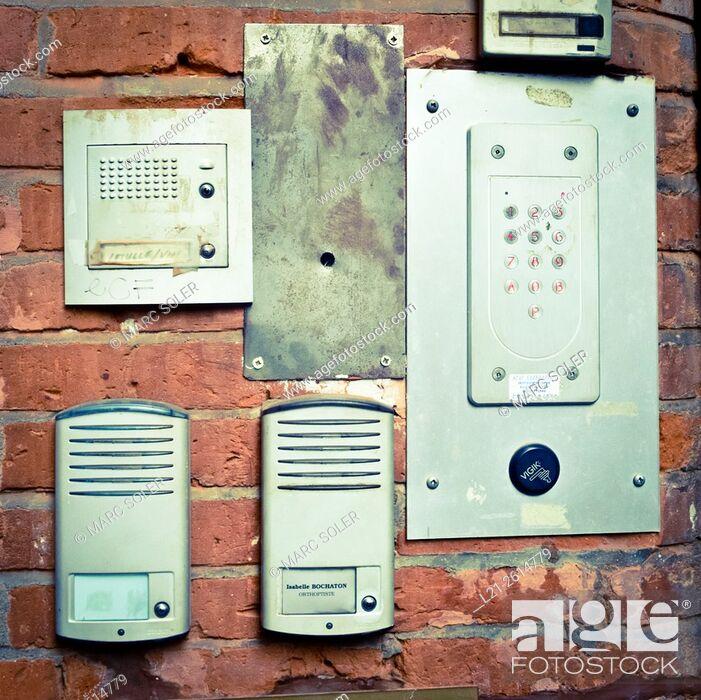 Stock Photo: Old interphones.