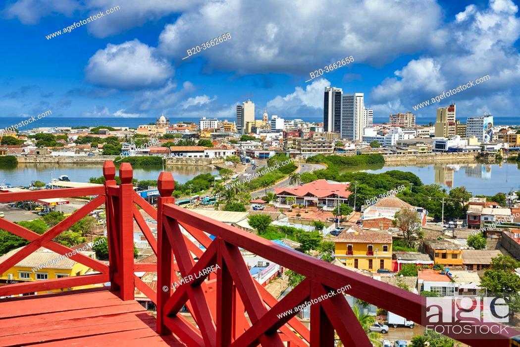 Stock Photo: Castillo de San Felipe de Barajas, Cartagena de Indias, Bolivar, Colombia, South America.