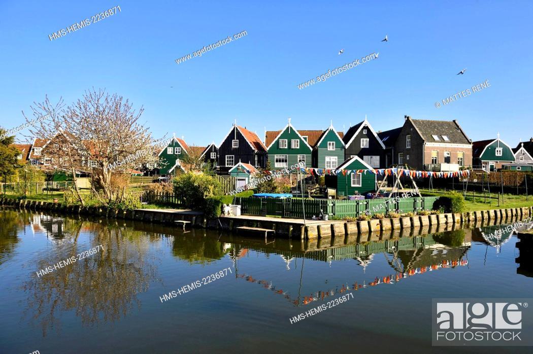 Stock Photo: Netherlands, Northern Holland, Marken village.