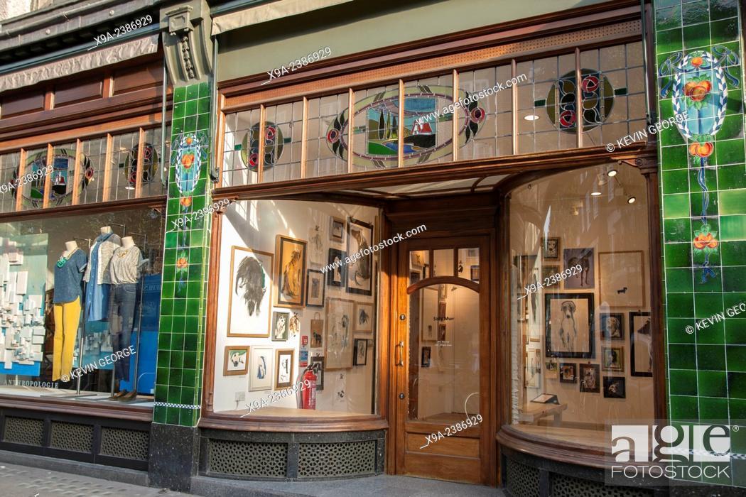 Stock Photo: Anthropologie Shop; Kings Road; Chelsea; London; England; UK.