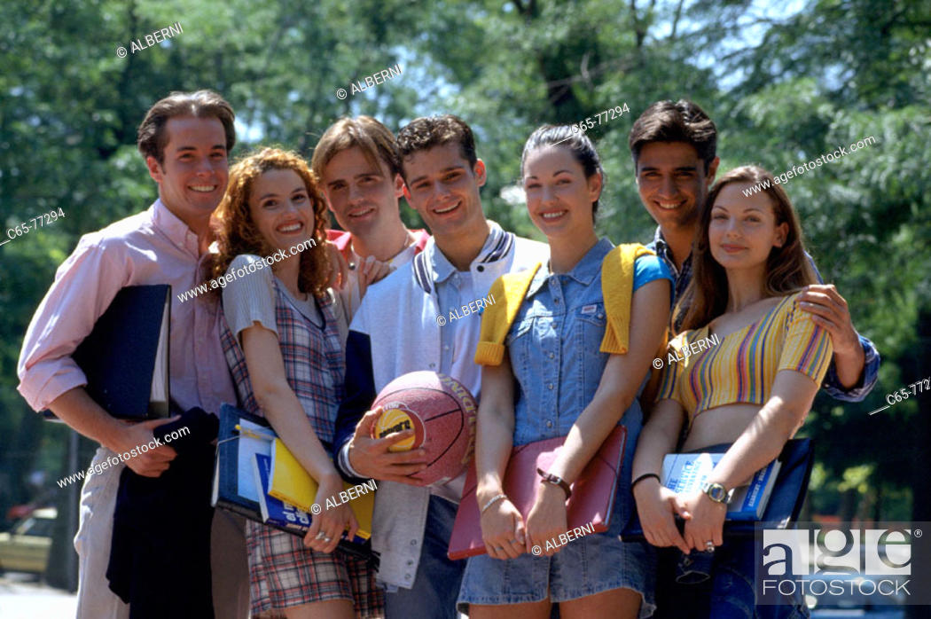 Stock Photo: Students.