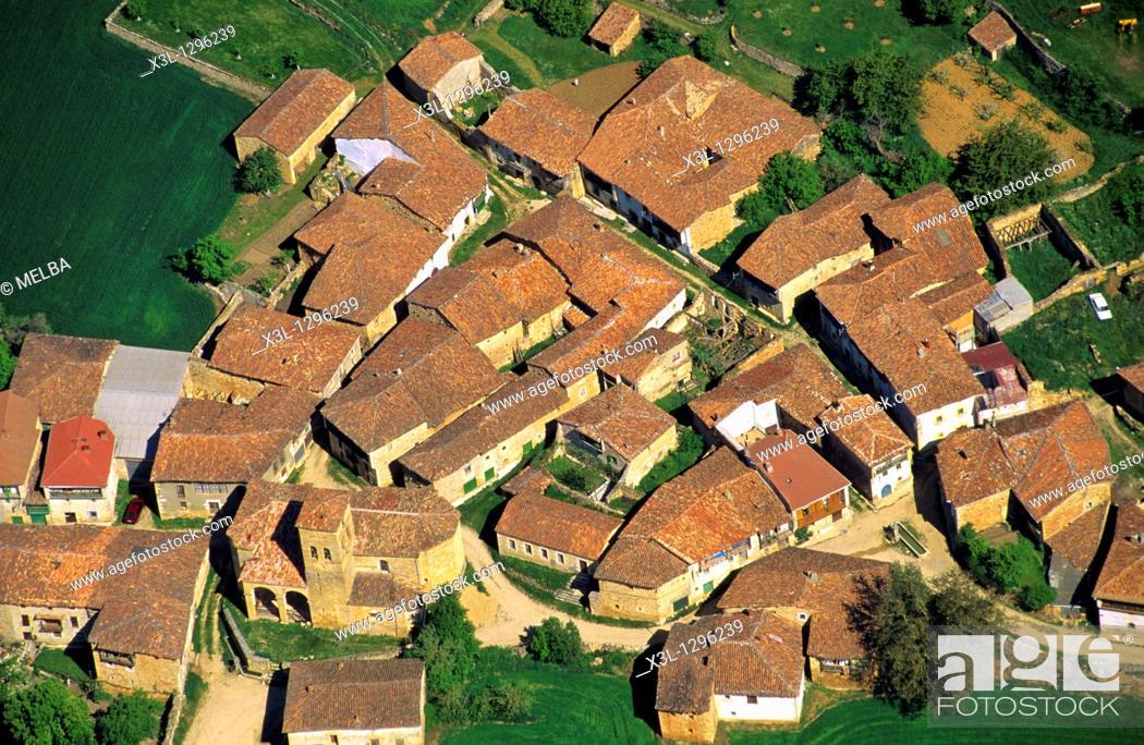 Stock Photo: Ahedo de Butron, Burgos province, Castile-Leon, Spain.
