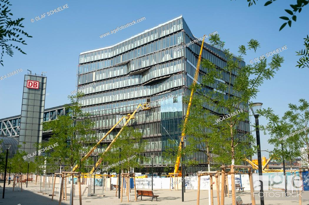 Stock Photo: Berlin, Germany, Europe - Construction site of Cube Berlin office building at Washingtonplatz in Mitte, next to the central train station.