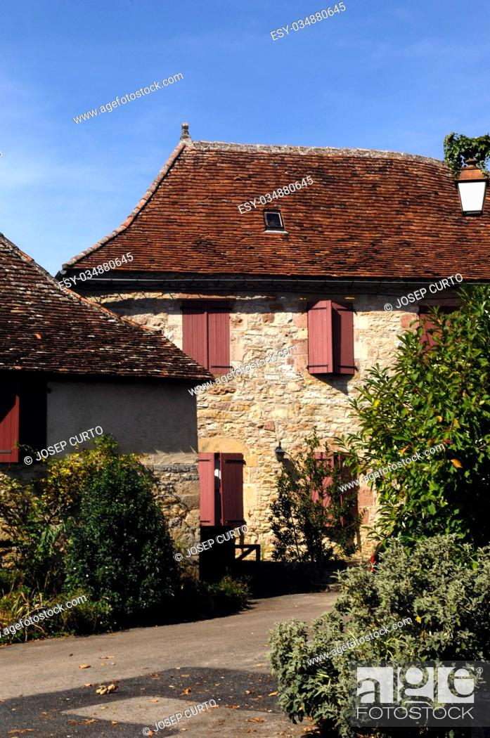 Stock Photo: Medieval Village of Loubressac, Lot, France.