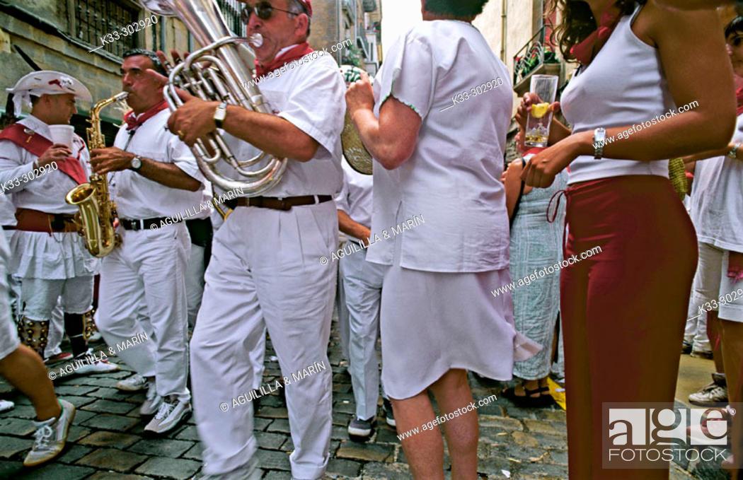 Stock Photo: Dancers. San Fermin. Pamplona. Navarre. Spain.