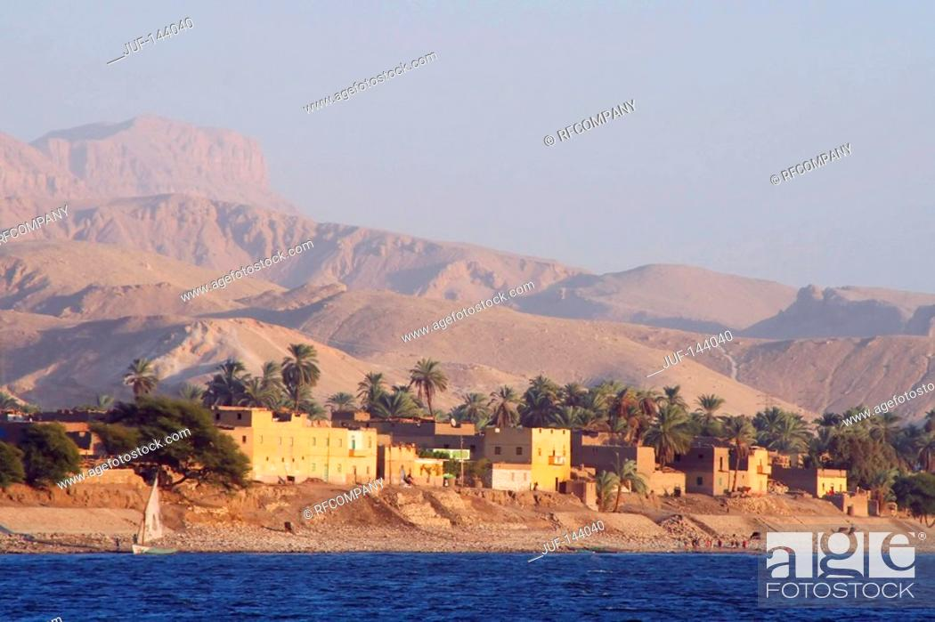 Stock Photo: Egypt: village at the Nile.
