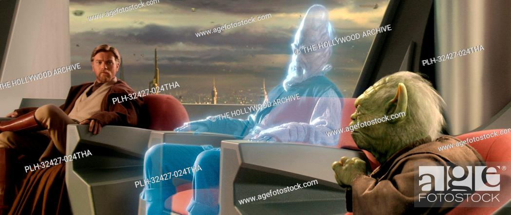 Imagen: Jedi Ki-Adi-Mundi (played by actor Silas Carson) appears as a hologram from a distant planet during an important meeting of the Jedi Council attended by.
