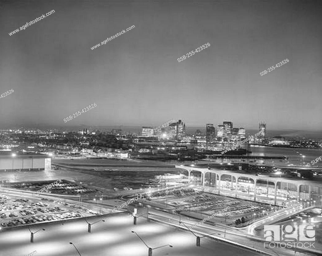 Stock Photo: Boston, Massachusetts, USA, cityscape at night.