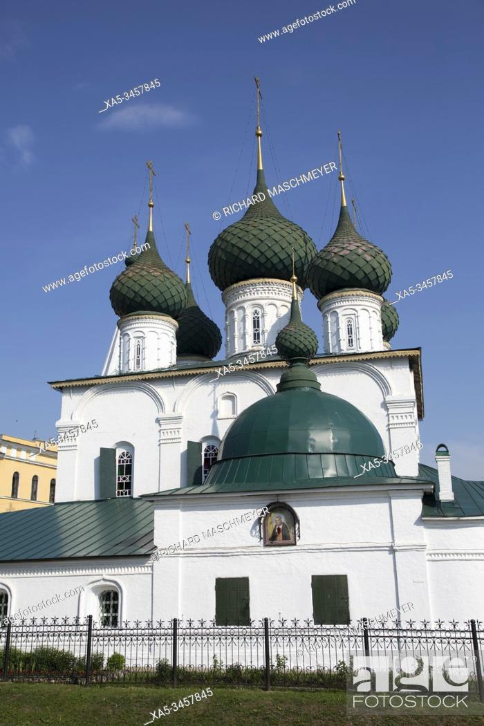 Stock Photo: Saviour Church on the City, UNESCO Site, Yaroslavl, Golden Ring, Yaroslavl Oblast, Russia.