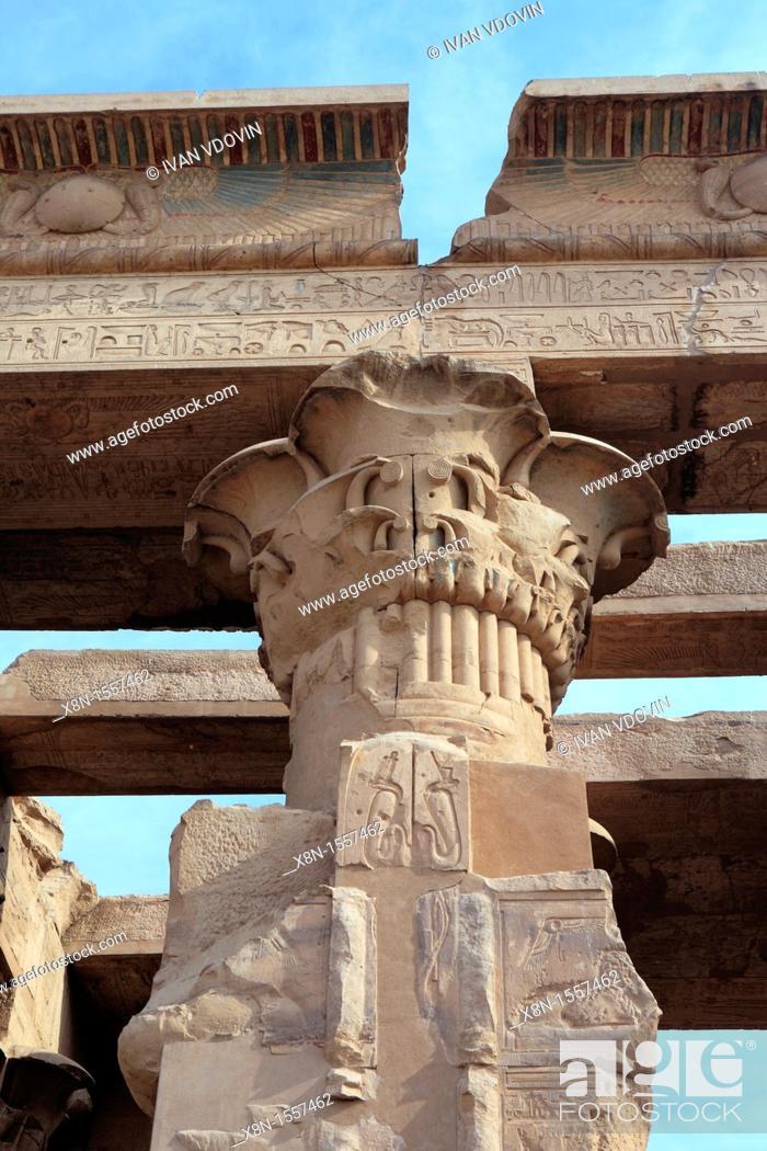 Stock Photo: Sobek and Haroeris temple 2nd-1st century BC, Kom Ombo, Egypt.
