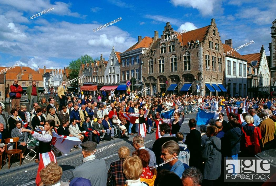 Stock Photo: Belgium - Flanders - Bruges - Procession 'The Holy Blood'.