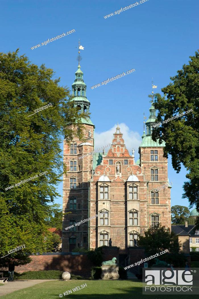 Stock Photo: Rosenborg Castle, Copenhagen, Denmark.