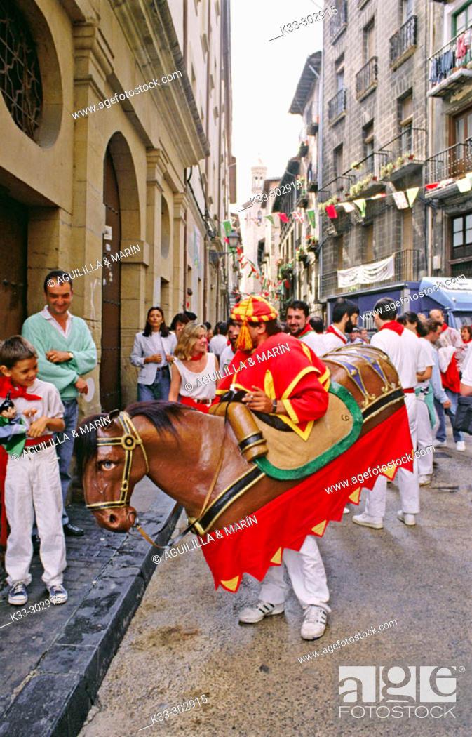 Stock Photo: San Fermin. Pamplona. Navarre. Spain.