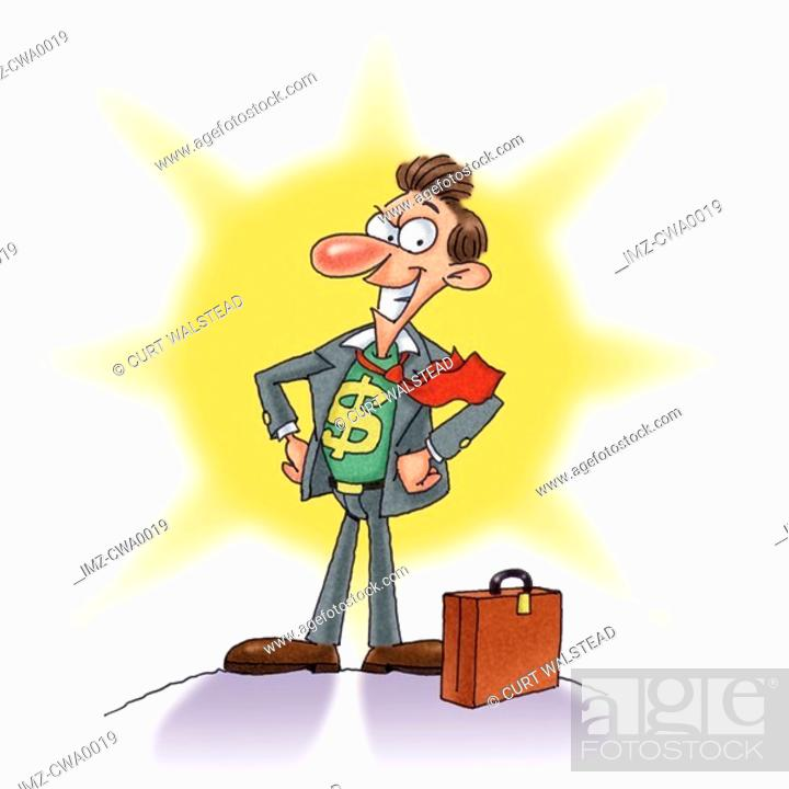 Stock Photo: A portrait of the star salesman.