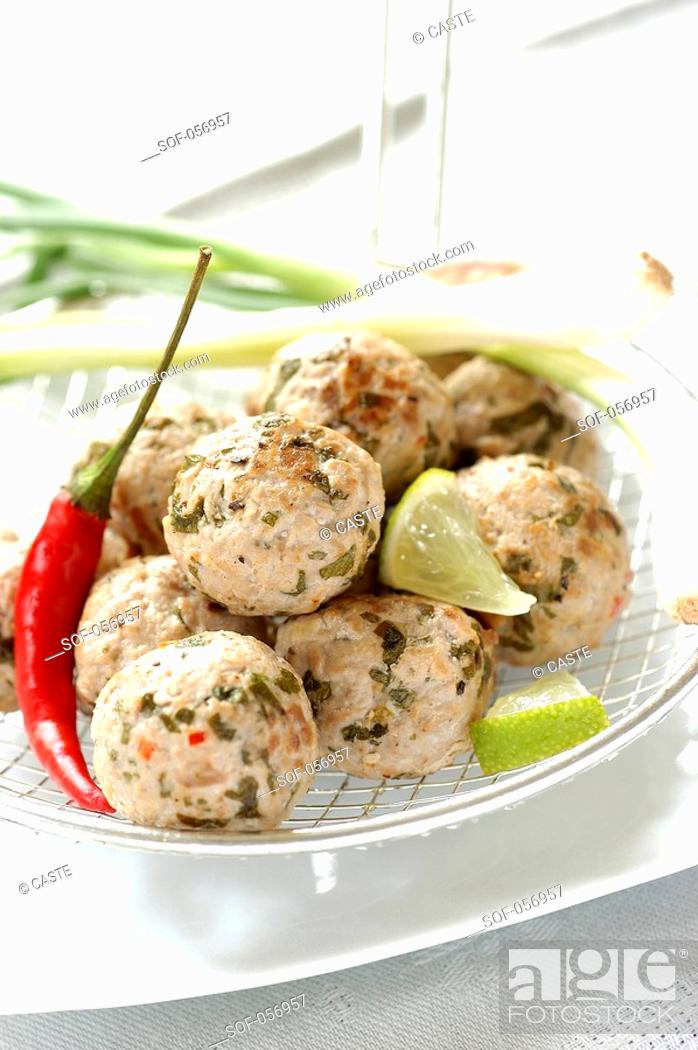 Stock Photo: tuna balls.