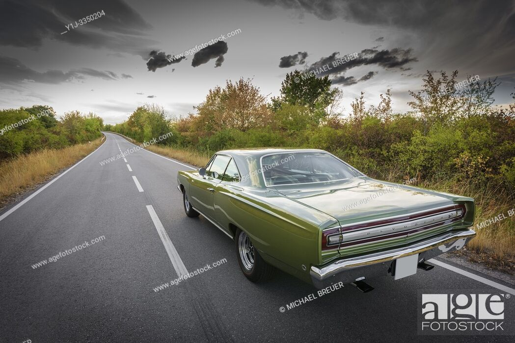 Stock Photo: Muscle Car, Plymouth Road Runner, 1968.