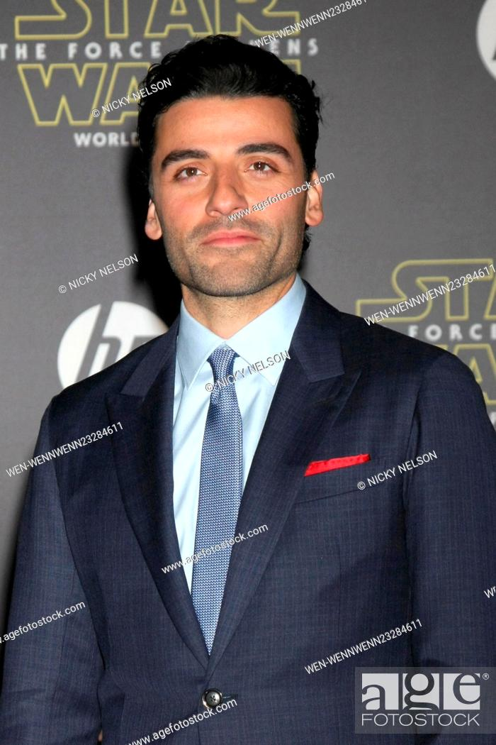 Stock Photo: Star Wars - The Force Awakens World Premiere Featuring: Oscar Isaac Where: Los Angeles, California, United States When: 15 Dec 2015 Credit: Nicky Nelson/WENN.