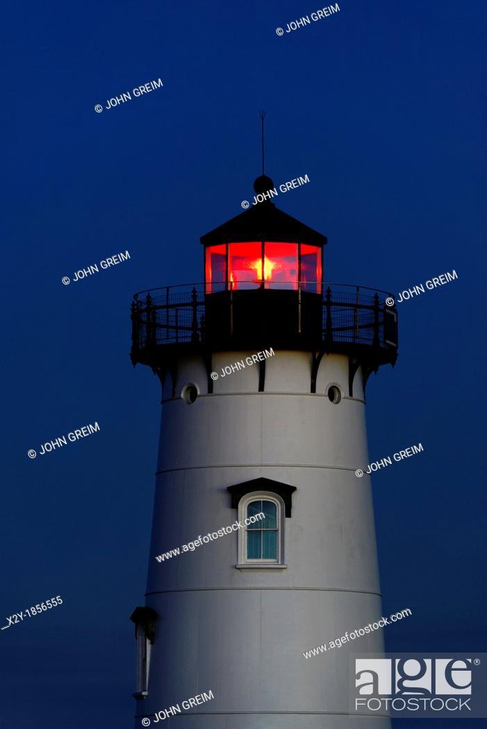Stock Photo: Edgartown Lighthouse, Martha's Vineyard, Massachusetts, USA.