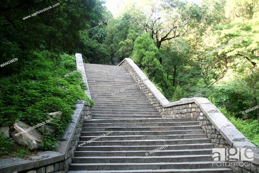 Stock Photo: Staircase. Taishan. China.